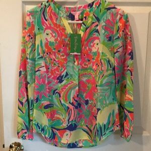 NEW Lilly Pulitzer Stacey top casa banana